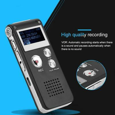 Voice Activated Spy 8GB Digital Sound Audio Recorder Dictaphone MP3 Player New