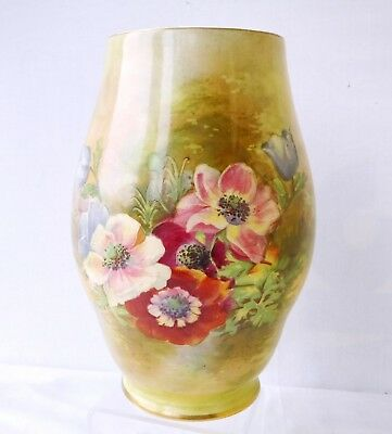1930s Royal Winton Vase Grimwades Anemone Hand Painted Signed