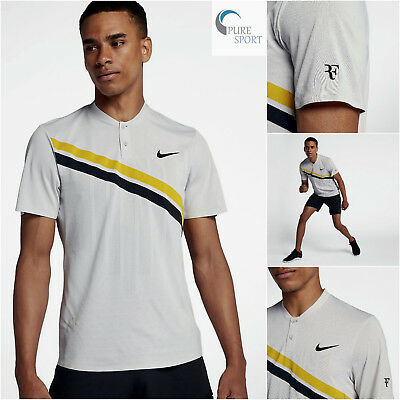 Nike Court Zonal Cooling RF Federer Advantage Mens Tennis Polo S L XL 887541-092