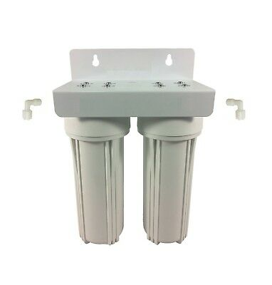 "Twin Undersink Water Filter System 10"" x 2.5"" Housing & Bracket Only"