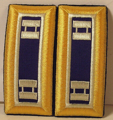 US Army Captain CAPT Civil Affairs Male Shoulder Boards for Dress Blues Insignia