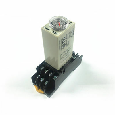 1/5set H3Y-4 Timer Time Delay Relay 5s-60s DC12 24V AC110 220V 4PDT With Base