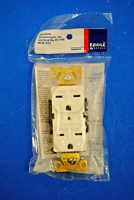 Eagle / Cooper 5662W White Duplex Receptacle 15Amp-250Volt, 2-P 3-W Grounding