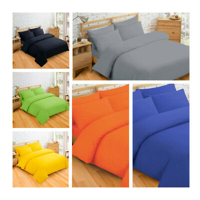 Plain Bedding Set Duvet Cover / Quilt Cover with Pillowcase Single Double King