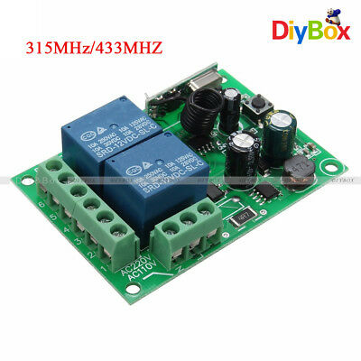 315MHz/433MHZ 2Channel 110-220V Wireless RF Relay Remote Control Switch Receiver