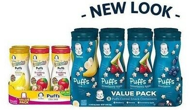 Gerber Graduates Puffs Cereal Snack, Variety Pack (1.48 oz., 8 ct.)  New Stock