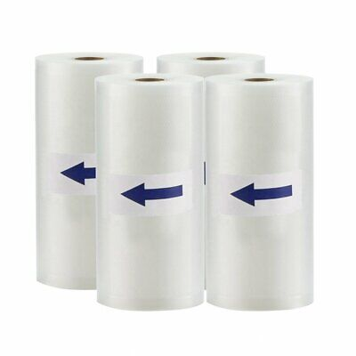 "(4) Vacuum Sealer Rolls 8""x50' 4Mil Embossed Foodsaver Vacuum Storage Bags 200ft"