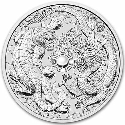 2018 Australian Dragon And Tiger 1 oz .9999 Silver PRE-SALE Capsuled BU Coin