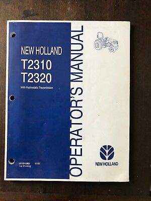 New Holland T2310 T2320 Tractor Hydrostatic Transmission new holland t2310 t2320 tractor hydrostatic transmission manual