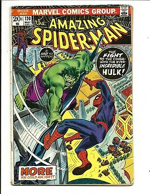 AMAZING SPIDER-MAN # 120 (SPIDEY vs. THE HULK, MAY 1973), VG+