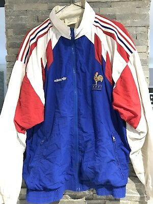Échauffement Veste 91 France Maillot Foot Adidas 1990 Collector q7xwtH