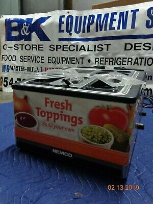 Nemco 9010 toppings rail Cold Condiment Chiller.