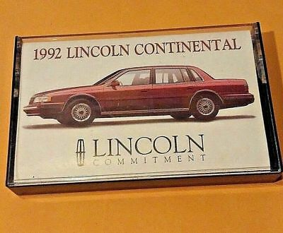 Promotional cassette 1992 lincoln Continental  tape car show advertising vintage
