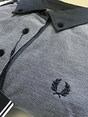 FRED PERRY Ladies Vintage Steel Dark Carbon Polo Shirt size 8 BNWT