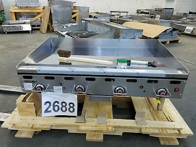 """2688-New S/D - Vulcan Thermostatic 48"""" Chrome Griddle, E-Ignition Model: 948RX"""