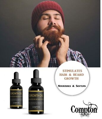 Beard Growth Oil From Compton Beard Range. Thicker, Softer, Healthier, Faster