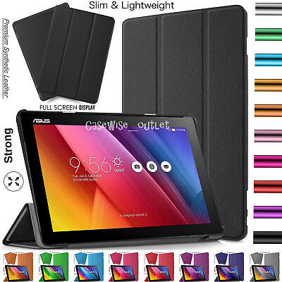 Leather Magnetic Smart Flip Stand Case Cover For ASUS ZenPad 10 (Z301MF) 10.1""