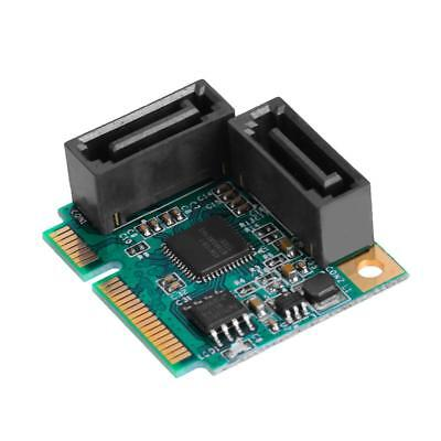 Mini PCI-Express to 2 Ports SATA 3.0 Single Chip Expansion Adapter Card H1
