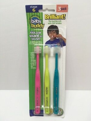 Baby Buddy 360 Toothbrush Step 2 Stage 6 For Ages 2-12 Years, Kids Love Them, 3
