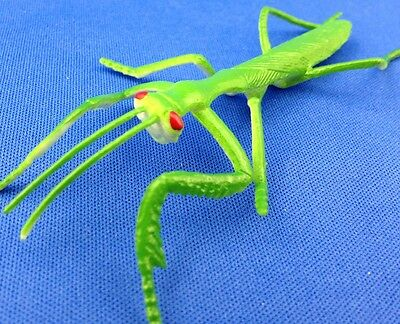 Praying Mantis Lot of 7 pieces INSECT pvc rubber FAKE Stick BUG educational toy