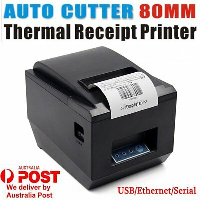 80mm USB POS Thermal Dot Receipt Bill Printer High Speed Auto Cutter 250mm/s 0@A