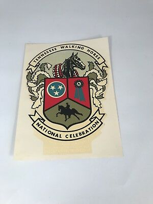 Vintage Tennessee Walking Horse National Celebration Decal Shelbyville Tennessee