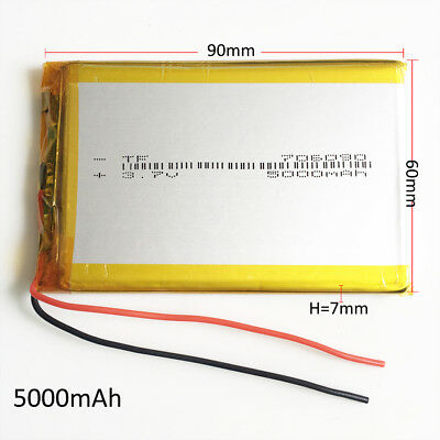 3.7V 5000mAh 706090 Lipo Polymer Rechargeable Battery For Power Bank Tablet PC