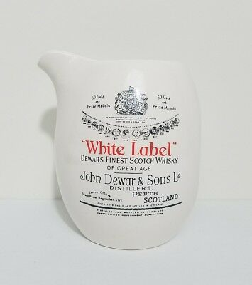 Dewars Scotch memorabilia ceramic pitcher white label bar decor advertising