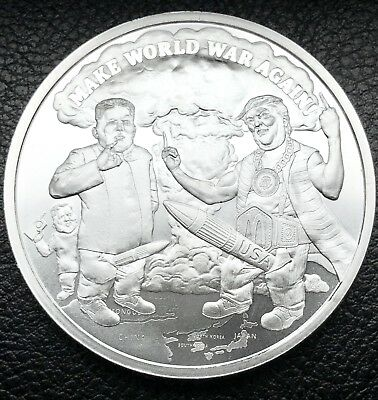 2018 Prophecy Series #8 Make World War Again 1 oz .999 Silver Round Coin COA