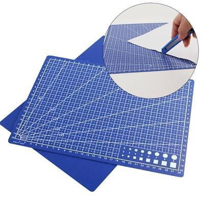 1xBlue A4 PVC Self Healing Cutting Mat Craft Quilting Grid Lines Printed Board