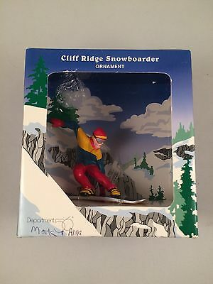 Department 56 Cliff Ridge Snowboarder Ornament 45753