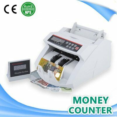 Automatic Money Counting Equipment Cash Counter Machine Counterfeit Detector 0@