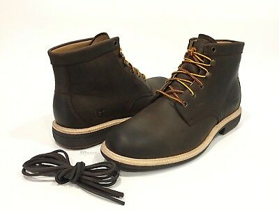 1ede51f7e7f UGG VESTMAR MEN'S Ankle Boots Grizzly Brown Leather Lace-Up -Us Size 9 -New