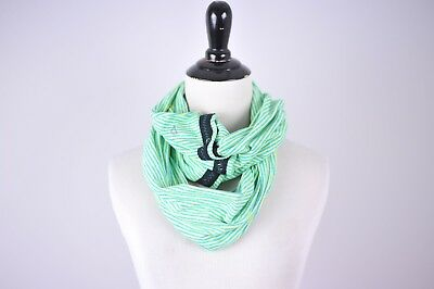 IVIVVA Girls Green & Blue Striped Snap Village Chill Scarf Convertible [D33]