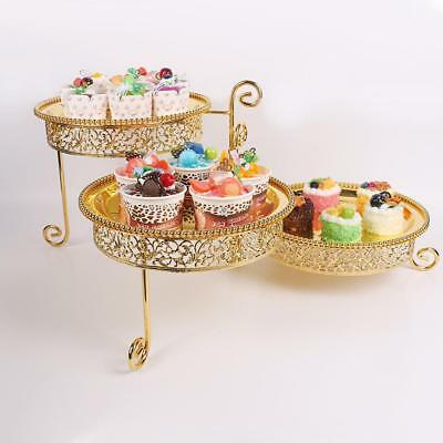 3 Layers Cake Stand Glass Cupcake Dessert Holder Display Wedding Birthday Party