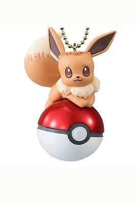 Pokemon Bandai Twinkle Dolly Eevee Keychain Pokeball Eeveelution