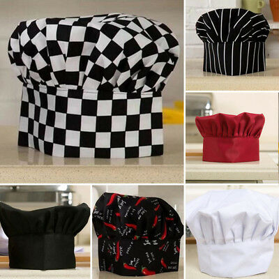 New Chef Cook Adjustable Pubs Cap Elastic Kitchen Baker Quality Hat Catering