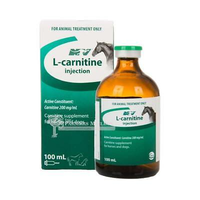 NATURE VET L-CARNITINE INJECTION 100ML L-carnitine amino acid supplement