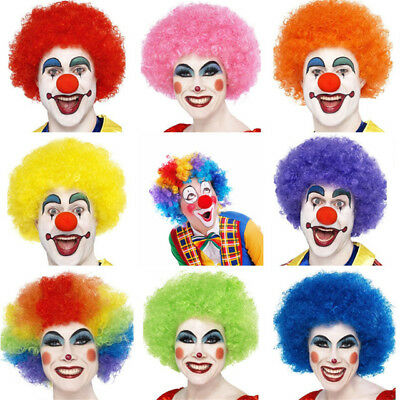 Clown Wig Kids Afro Multi Color 80s 70s Curly Party Clown Funky Disco Kids Hair