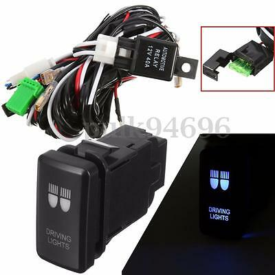 12V 40A LED Driving Light Bar Wiring Loom Harness Relay Switch For Toyota HILUX