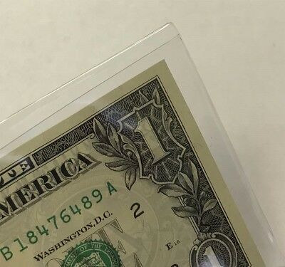 Modern US / World Currency Rigid Vinyl Banknote Sleeves 6.5x3 Safe T 100 Quality