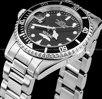 Invicta Men's Submariner Coin Edge Pro Diver Stainless Steel 200M Bracelet Watch