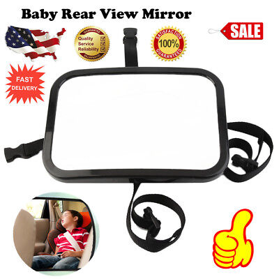 Baby Mirror Back Car Seat Rear Ward Safety View Adjustable Infant Child ToddlerT