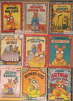 lot of 9 arthur books by marc brown an arthur adventure series