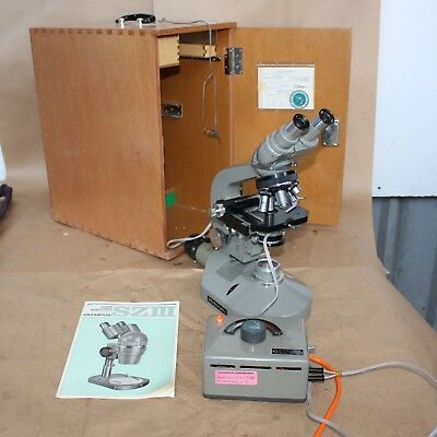 Olympus Tokyo Stereo Microscope lamp condenser piece EHCRBI-1 Lenses in box
