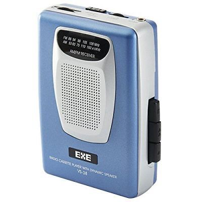 Retro Personal Stereo Portable Cassette Tape Player with Radio & Speaker - Blue