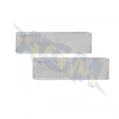 Led Autolamps 9020W Twin Pack Of White Rectangular Front Reflectors