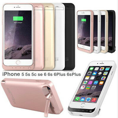 UK External Power Bank Pack Battery Charger Case Cover For iPhone5S 5C 6 6S Plus