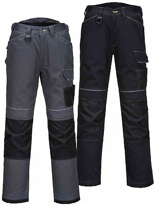 "PORTWEST T601 Urban black or grey/black multi-pocket work trouser size 28""-48"""