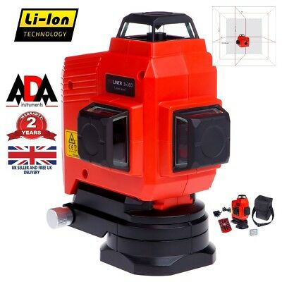 12 Line 3D 360° Laser Level Self Leveling Rotary Cross Measure Rechargeable ADA